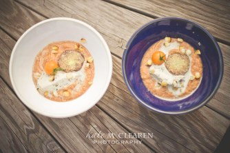 Heirloom Tomato and Corn Soup