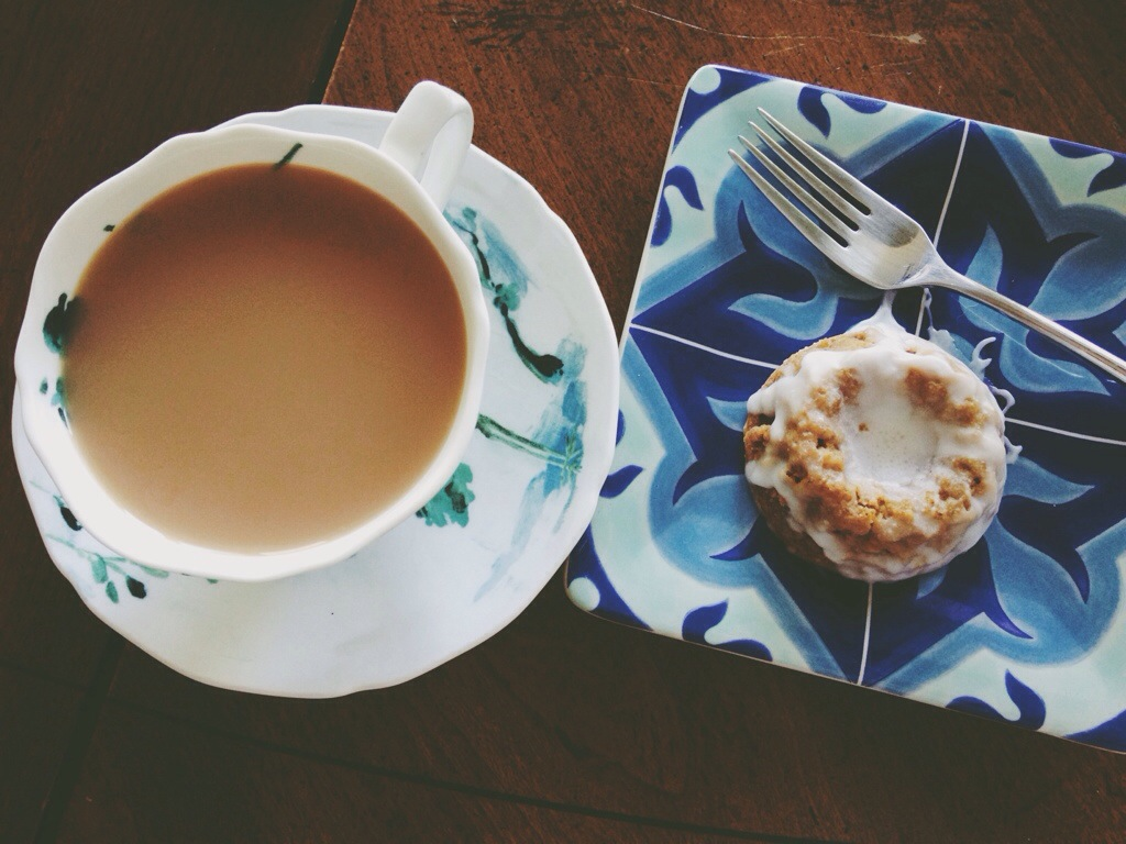 Breakfast- Tea and Mini Carrot cake