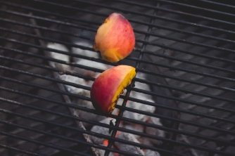 Grilling Peaches
