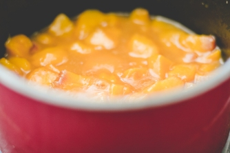 Homemade peach compote
