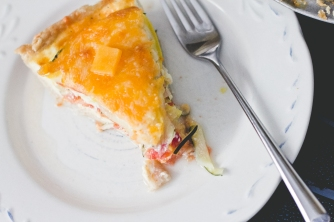 Garden Veggie Quiche |The Everyday Chef and Wife