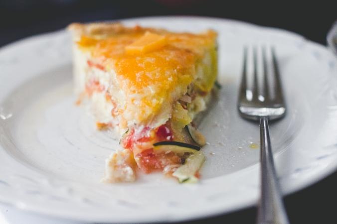 Garden Veggie Quiche |The Everyday Chef and Wife