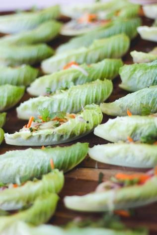 Bahn-mi lettuce wraps